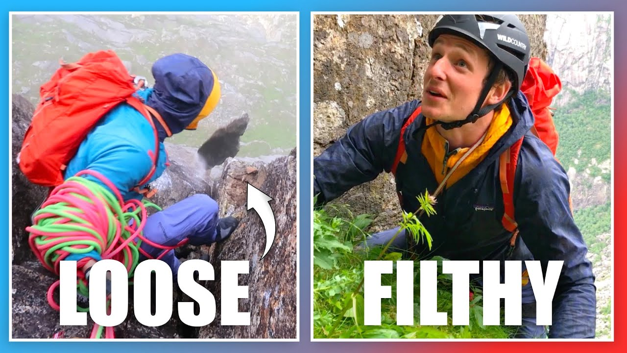This Is First Ascent Trad Climbing