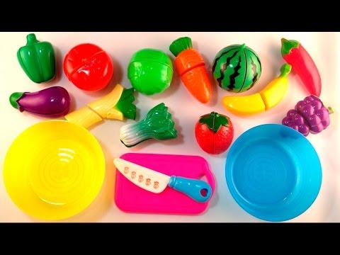 Учим и режем овощи и фрукты на липучках