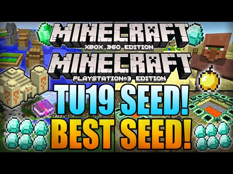 ★ Minecraft Xbox 360 TU19 Seeds: BEST SEED! 33 Diamonds, 2 Villages, Dungeon, Temple! (Xbox 360/PS3)