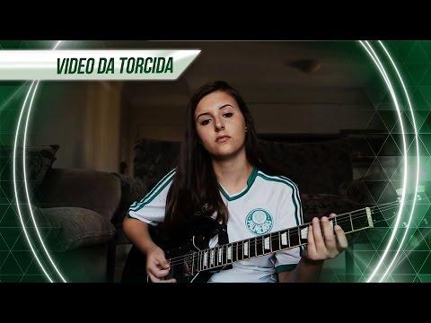 SHE ROCKS! A Jaqueline tocou o hino do Palmeiras na guitarra!