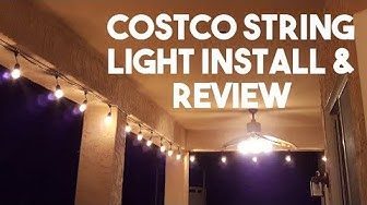 Costco Feit Patio String Light Installation and Review