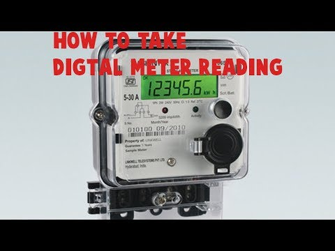 Digital Electricity Meter Reading In India