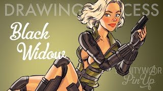 Black Widow - Infinity War Pin-Up [DRAWING PROCESS]