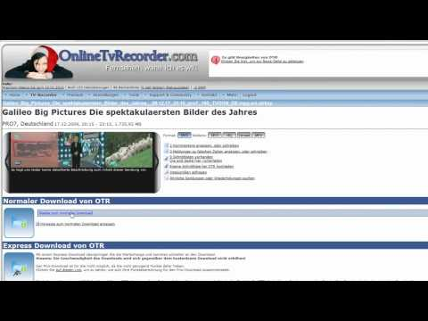Quicktipp Online TV Recorder OTR