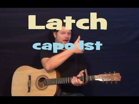 Latch (Disclosure ft. Sam Smith) Easy Guitar Lesson How to Play ...
