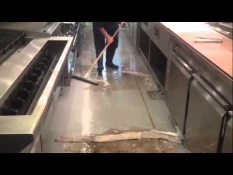 Restaurant Floor Cleaning Youtube