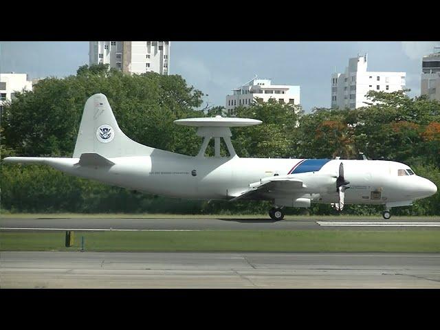 San Juan Airport: US Customs P-3 Orions, USAF C-17 & More!