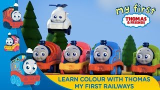 Thomas & Friends Bahasa Indonesia - Belajar mengenal warna bersama My First Railways Thomas