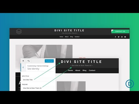 How to Add a Dynamic Site Title and Tagline to a Divi Global Header