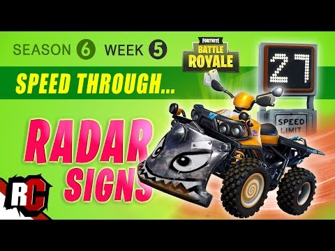 Fortnite WEEK 5 Speed Through Radar Signs (Season 6 Challenge / ATK Spawns + Radar Locations)