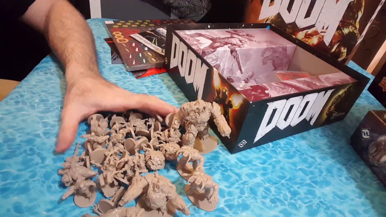 doom board game unboxing youtube