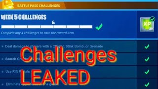 FORTNITE Season 7 WEEK 5 CHALLENGES Leaked! All Challenges