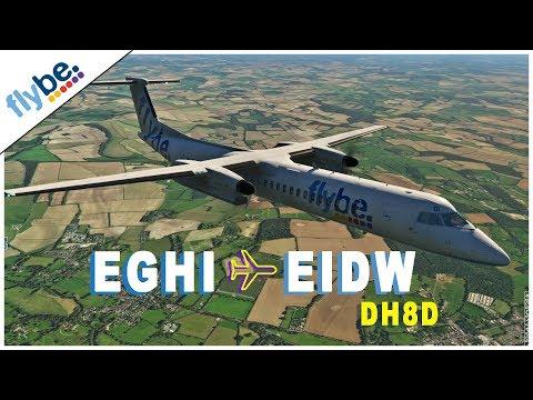 [X-Plane 11] South Hampton (EGHI) - Dublin (EIDW) [Dash 8 | BEE1027]