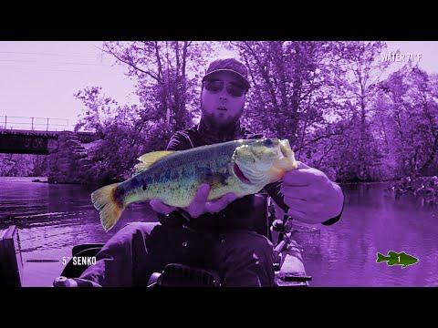 Senko Fishing For Bass On Newton Lake, NJ