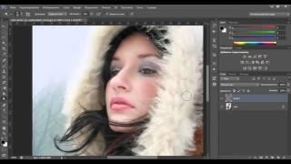 Видео уроки Photoshop – Обработка зимней фотографии в фотошоп