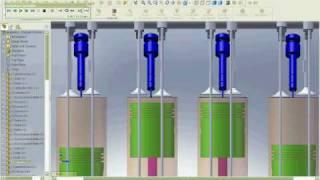 diesel motor engine simulation Solidworks