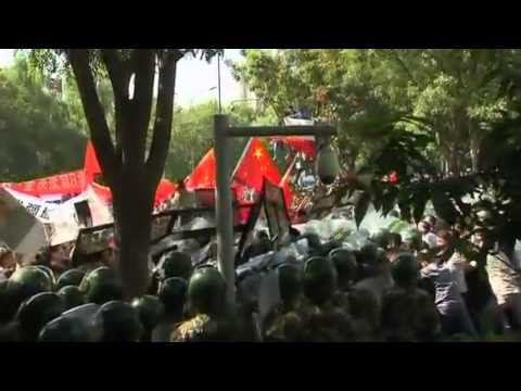 Thousands protest at the Japanese embassy in Beijing   Video   Reuters com