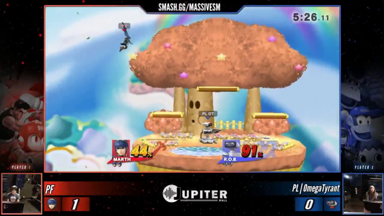 MSM 6/5/2017 Smash 4 WS: PrimeFighter (Marth) vs. PL | Omega Tyrant (R.O.B.)