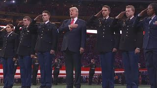President Trump Was Welcomed With Cheers at College Football Championship