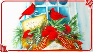 Pintura em Tecido – Janela Natal 3
