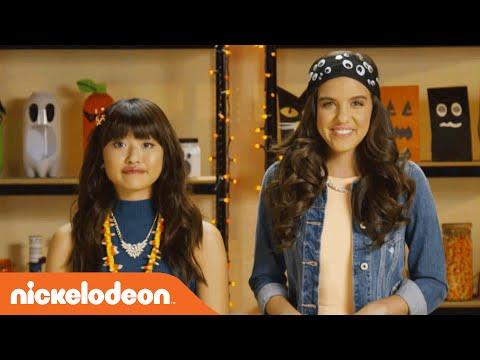 Halloween Hacks  Creating Hacksessories w Haley & Lilimar  Nick