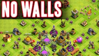 Clash of Clans :: NO WALLS  ::  DEFENDING WITHOUT WALLS