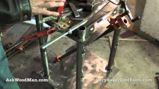 37/40 Clamping Drill Press Support Prior To Welding • Welding For Woodworkers