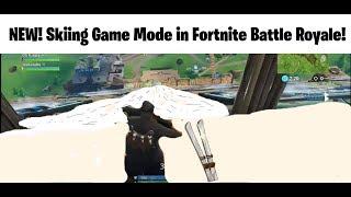 Slalom skiing game mode in Fortnite Battle Royale (Fortnite custom mini games)
