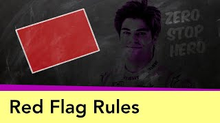 Red Flags and Race Suspensions - the rules