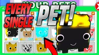 I GOT ALL THE PETS IN PET SIMULATOR! *EXPENSIVE* (Roblox)