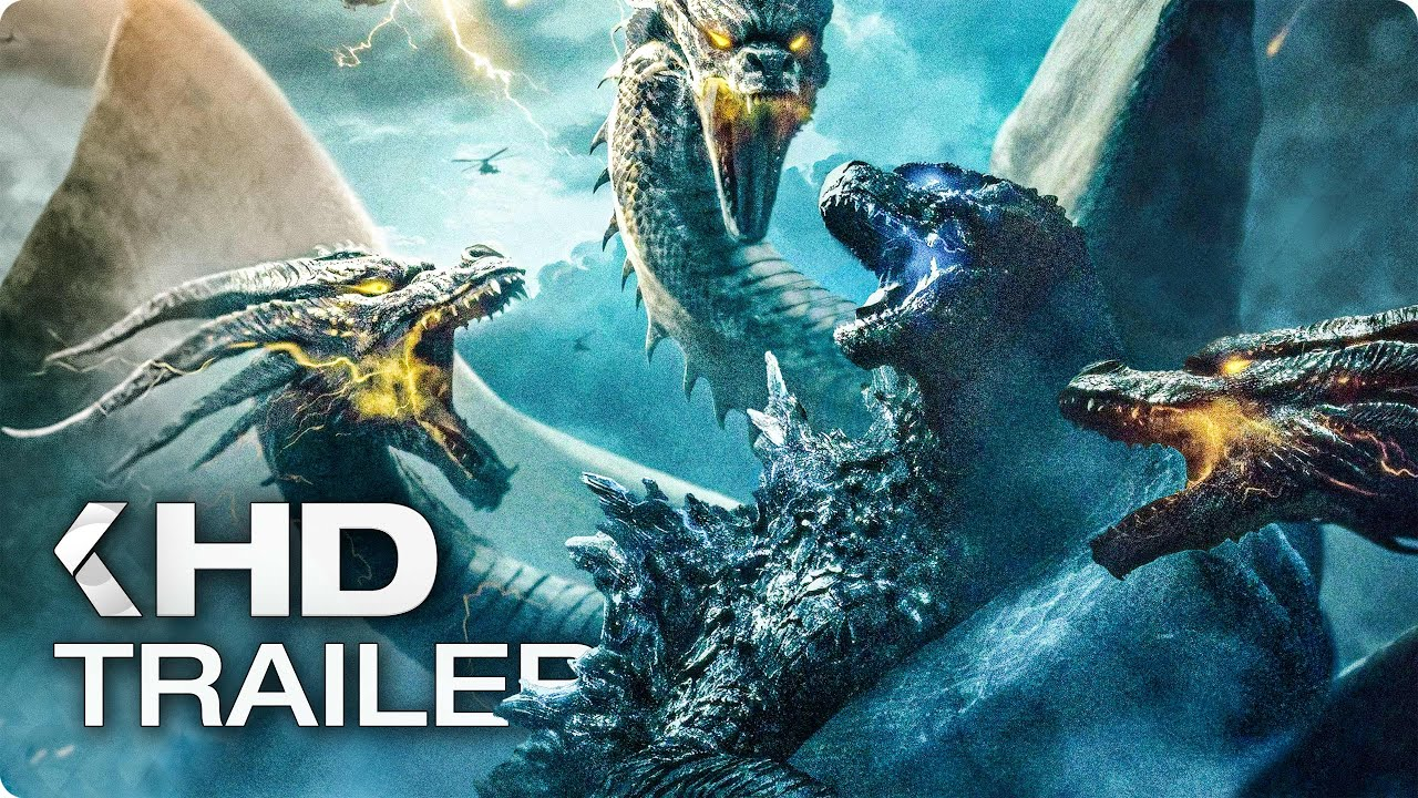 GODZILLA 2: King of the Monsters - 12 Minutes Trailers & Clips (2019)