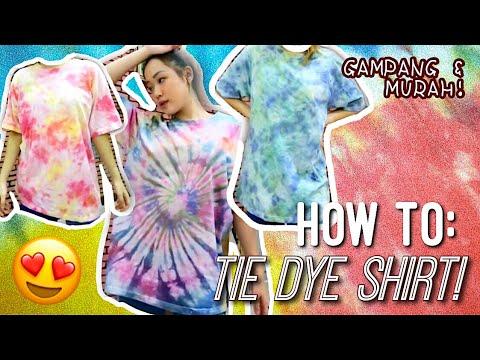 How To Tie Dye Shirt Gampang Murah Quarantine Dirumah Mending Nge Tiedye Tutorial Diy Indonesia Youtube