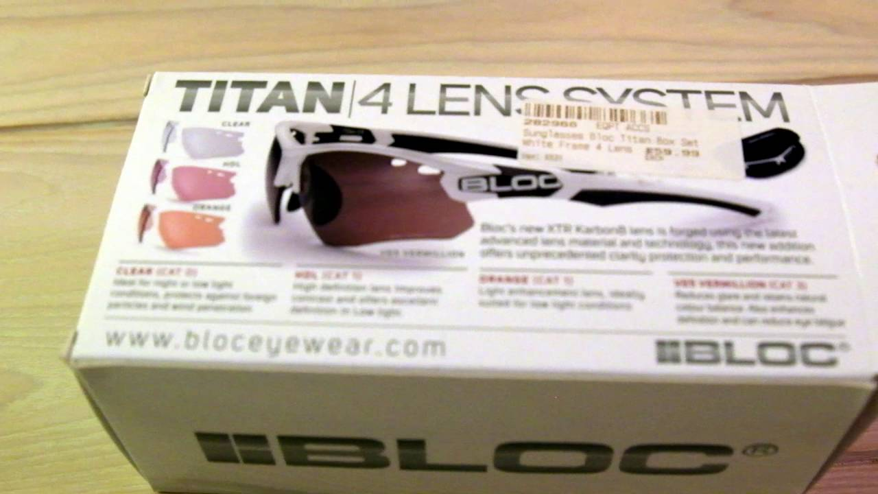 6baa20ae8f Bloc Titan Cycling Sunglasses Unboxing Review