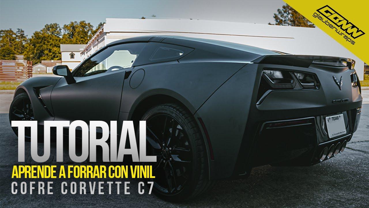 Como forrar un cofre con vinil!/ TUTORIAL / Wrap Negro Mate Corvette / glaubenwraps DIY