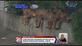24 Oras: Ilang batang nagbabalak maligo sa Zapote River kahit bawal, sinita