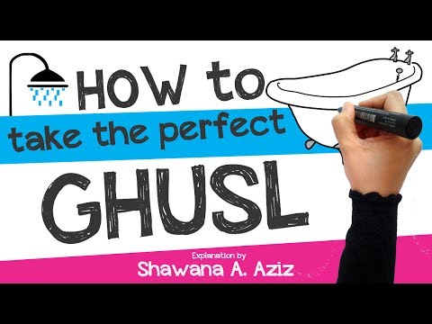 How to take Ghusl : Ritual bath in Islam | Shawana A. Aziz