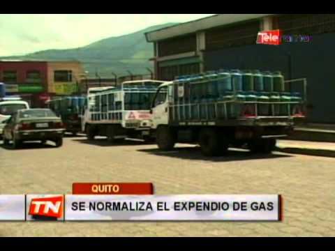 Se normaliza el expendio de gas