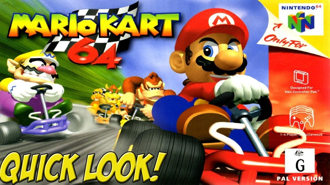 N64 Mario Kart 64 Quick Look Yovideogames Youtube