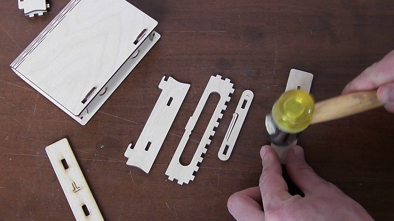 How to assemble Wooden sliding bolt latch spring loaded. Size 2 ...