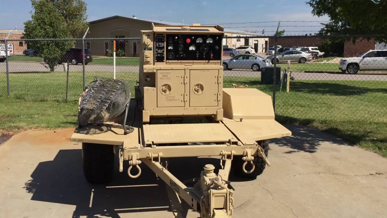 Trailer Mounted MEP-802A 5KW Military Generator for eBay ...