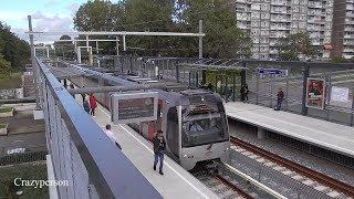 Hoekse Lijn RET metro B op Schiedam Nieuwland, Eerste spits