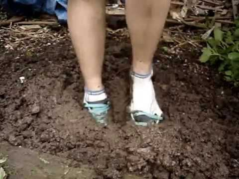 socks in mud