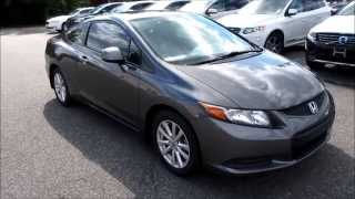 2012 Honda Civic EX Coupe Walkaround, Start up, Tour and Overview