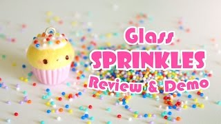 Glass Sprinkles for Polymer Clay Review/Demo