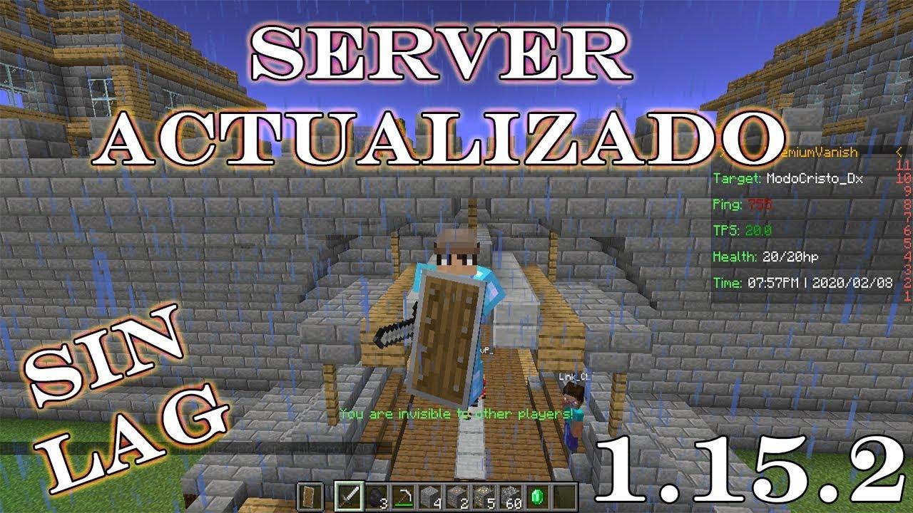 Minecraft Server No Premium PVP/SURVIVAL 1 8 y 1 11 2
