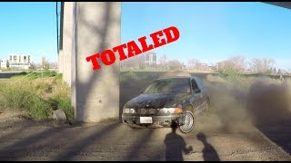 BMW 540i INSANE Walltap Drift Challenge Gone Wrong