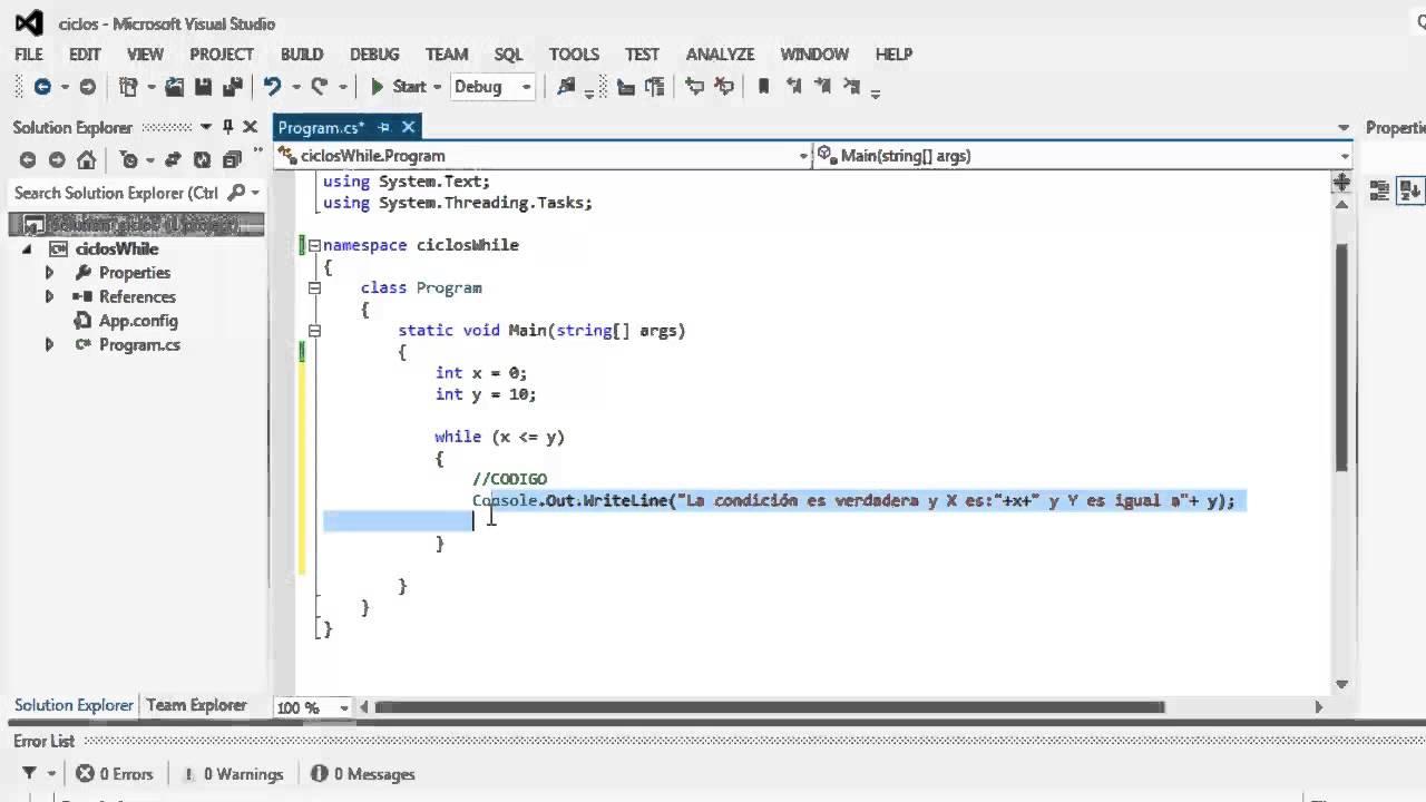 C# (Sharp) - Sentencia While (Ciclos) en C# - YouTube