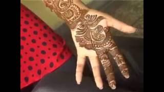 Full Hand Bridal Arabic Mehndi Design