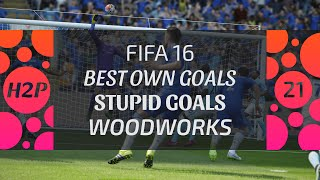 FIFA 16 FAILS & GLITCHES | BEST OWN GOALS, STUPID GOALS, WOODWORKS, MISSES | ONLINE SEASONS | EP. 21