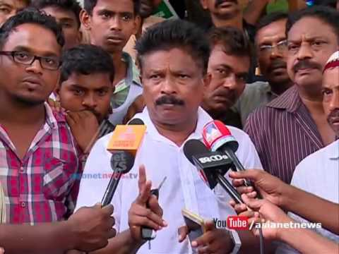 March against the land acquisition for Kannur Airport Development